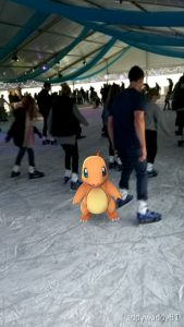 A rare sight indeed. A shy Charmander found outside it's natural environment